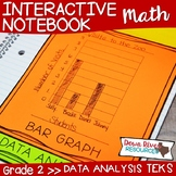 Second Grade Math Interactive Notebook: Data Analysis- Graphing (TEKS)