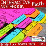 Second Grade Math Interactive Notebook: Divider Tabs for O