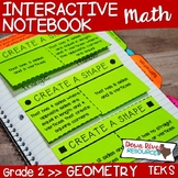 Second Grade Math Interactive Notebook: Geometry- 2-D Shap