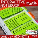 Second Grade Math Interactive Notebook: Geometry- 2-D Shap