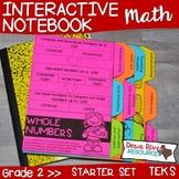 Second Grade Math Interactive Notebook: Starter Set + Divi