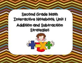 Second Grade Math Interactive Notebook Unit 1 +/-  Strategies