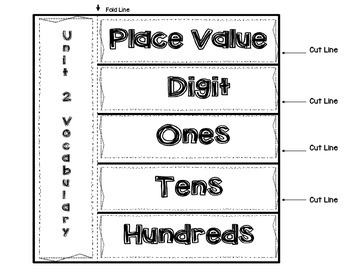 Second Grade Math Interactive Notebook Unit 2 Place Value/Number Patterns