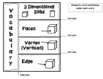 Second Grade Math Interactive Notebook Unit 3 Shapes and Fractions