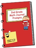 Math Journal  Second Grade Math Journal Prompts Aligned to the Common Core