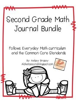 Second Grade Math Journal Bundle