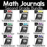 Second Grade Math Journal Bundle Volumes 1-9