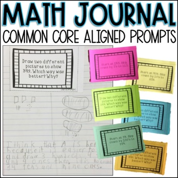 Second Grade Math Journal Prompts - Common Core Aligned