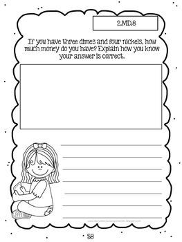 Second Grade Math Journal Sampler