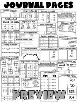 Second Grade Math Journal Volume 4