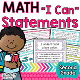 """""""I Can"""" Statements: Second Grade MATH"""