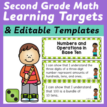 Second Grade Math Learning Targets/I Can Statements for th