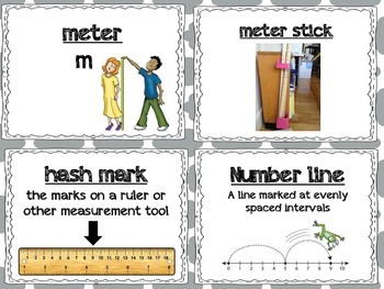 Second Grade Math Module 1-8 Vocabulary Words with Pictures