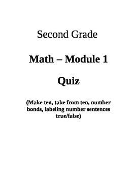 Second Grade Math Module 1 Quiz