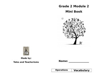 Second Grade Math Module 2 Mini Book for Centers