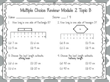 EngageNY 2015 Second Grade Math Module Two Review Pack and Game