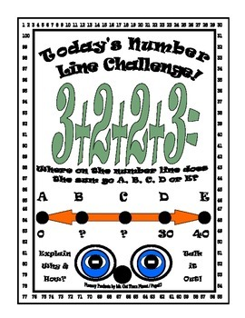 Math Number Sense Challenge Activity Gifted 2nd Grade