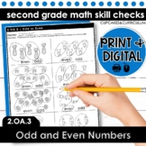 Odd and Even Numbers | Second Grade Math 2.OA.3