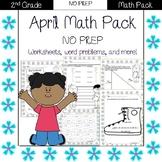 Second Grade Math Pack {April} NO PREP
