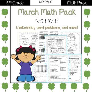 Second Grade Math Pack {March} NO PREP