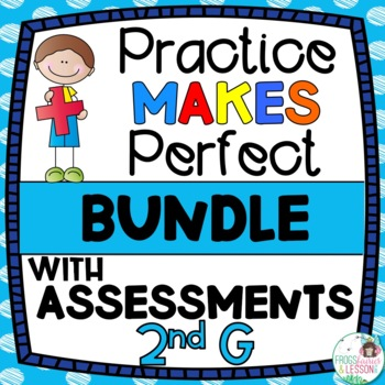 Second Grade Math Practice and Assessments Bundle