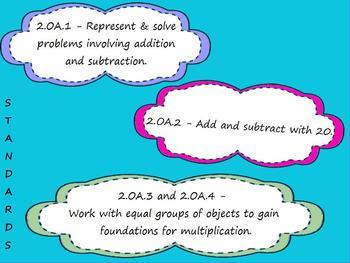 Second Grade Math Promethean Flip chart CCSS 2.OA with Quiz