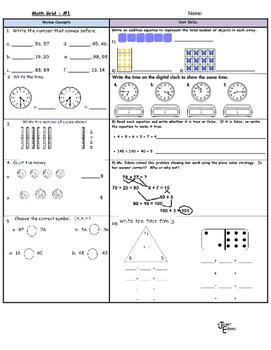 Second Grade Math Review 1