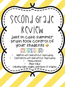 Second Grade Math Review