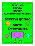 Second Grade Math Review Printables