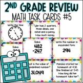 2nd Grade Math Spiral Review   Task Cards Set 5 of 5