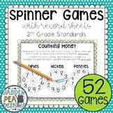 #SPRINGSAVINGS Second Grade Math Spinner Games