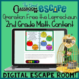 Second Grade Math St. Patrick's Day Digital Escape Room Activity