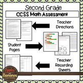 Test Prep Second Grade Math Review - Common Core Tasks For Each Standard