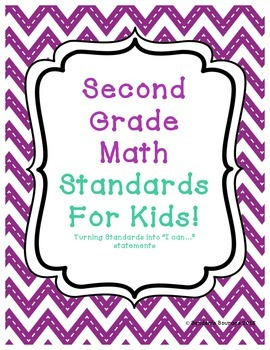 Second Grade Math Standards Into Statements