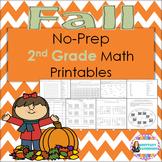 Fall Math Packet NO PREP 2nd Grade