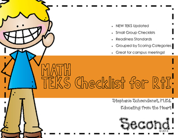 Second Grade Math TEKS Checklist