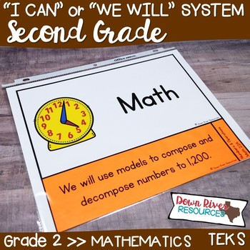Second Grade Math TEKS I Can Statements