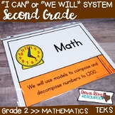 Second Grade Math TEKS I Can Statements