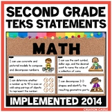 Second Grade Math TEKS - Can and Will Standards Statements
