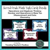 Second Grade Math Task Cards Bundle