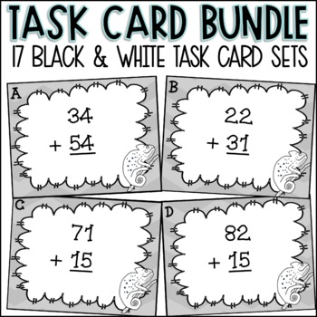Second Grade Math Task Card Bundle