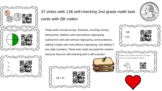 Second Grade Math Task Cards With QR Codes