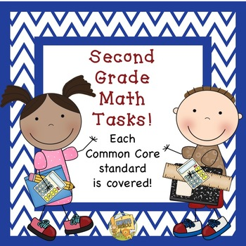 2nd Grade Math Tasks!  One for every standard!  Easy to Use!
