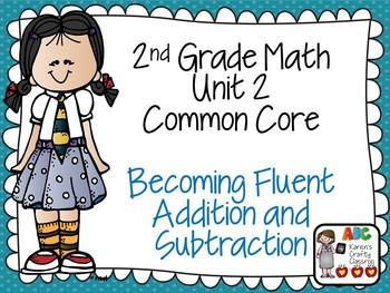 Second Grade Math Unit 2 Common Core Posters