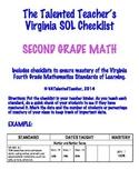 Second Grade Math VA SOL Checklist