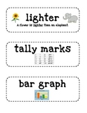 Second Grade Math Vocabulary Cards