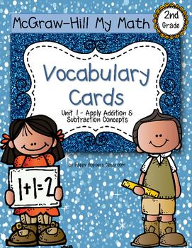 Second-Grade Math Vocabulary {My Math Series - Unit 1}{CCSS aligned}