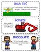Second-Grade Math Vocabulary {My Math Series - Unit 11}{CC