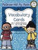 Second-Grade Math Vocabulary {My Math Series - Unit 2 & 3}{CCSS aligned}