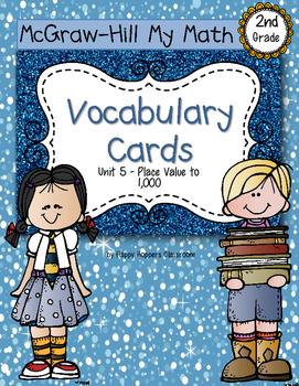 Second-Grade Math Vocabulary {My Math Series - Unit 5}{CCS